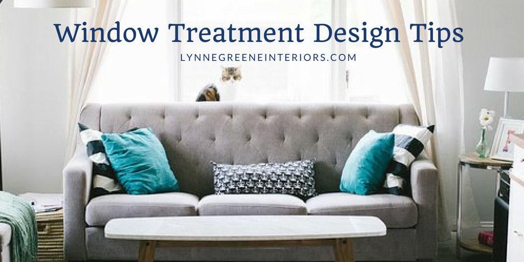 Window Treatment Design Tips